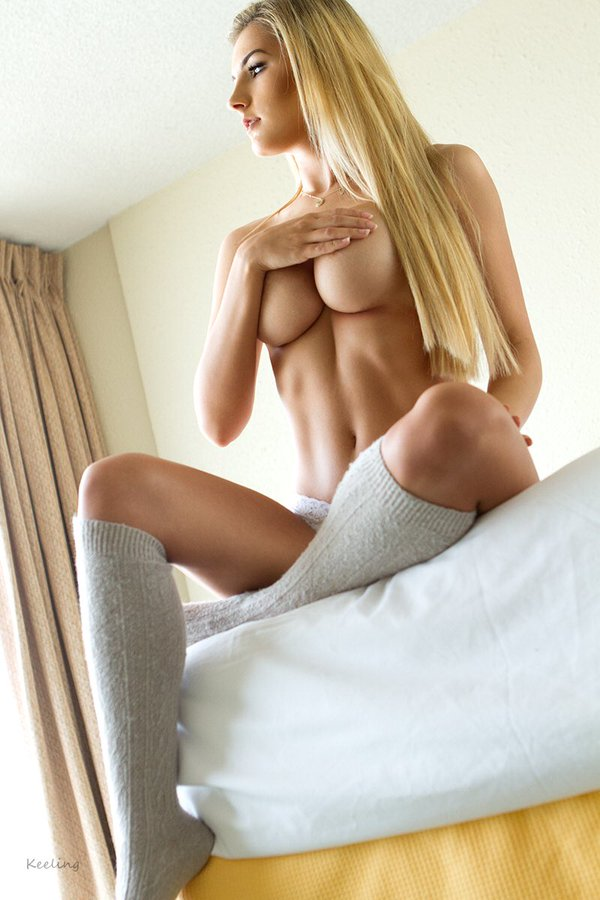 nude guy sucking boobs