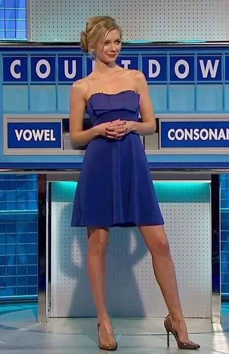 Rachel Riley presenting football and looking hot on a day when ...
