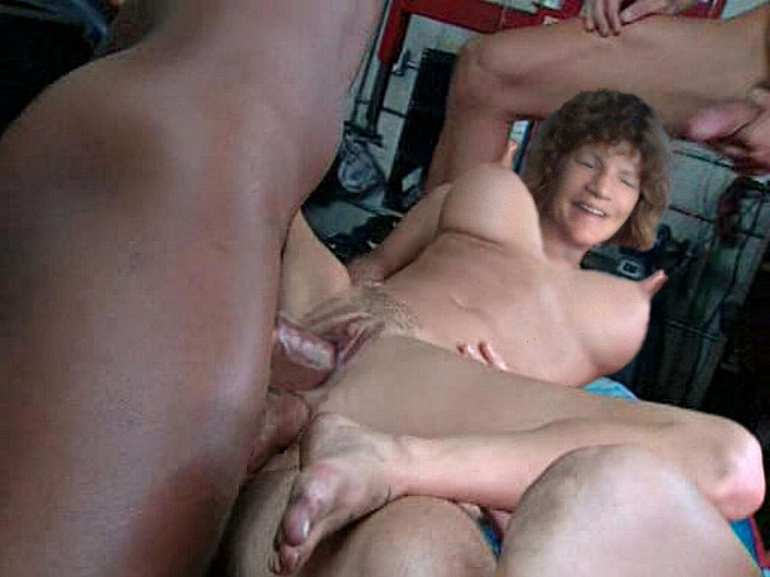 Alluring young Hidden cam gang bang